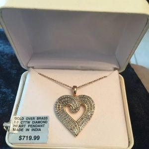Jewelry - Fine Lady Gift Necklace 1 CTTW GOB diamonds heart